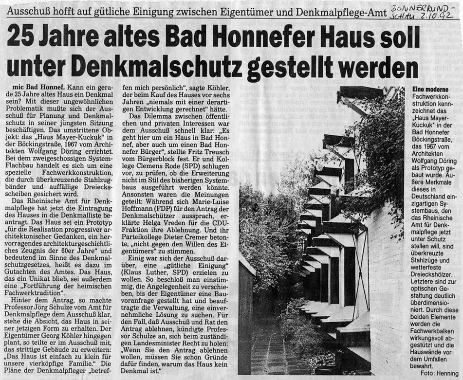 Architekt Bad Honnef böckingstrasse